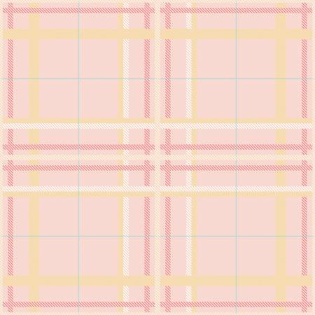 Seamless tartan plaid pattern in summer tone.
