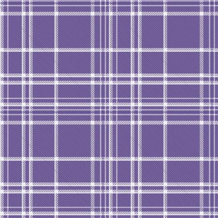 Tartan pattern fabric seamless. Purple and Ultra Violet on purple background,Pantone Style. 向量圖像