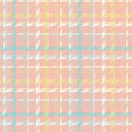 Seamless tartan plaid pattern in summer tone. 版權商用圖片 - 105658734