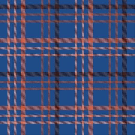 Seamless tartan plaid pattern in blue tone and red line. 版權商用圖片 - 105658739