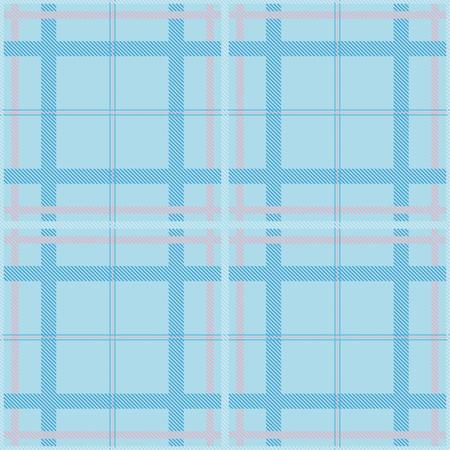 Seamless tartan plaid pattern in blue and pink tone. 版權商用圖片 - 105658737