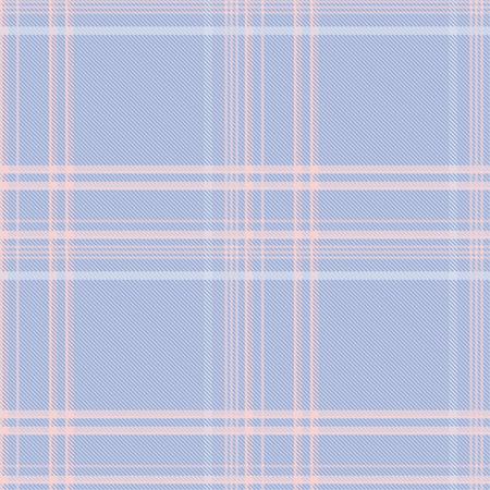 Seamless tartan plaid pattern in blue and pink tone. 版權商用圖片 - 105658742
