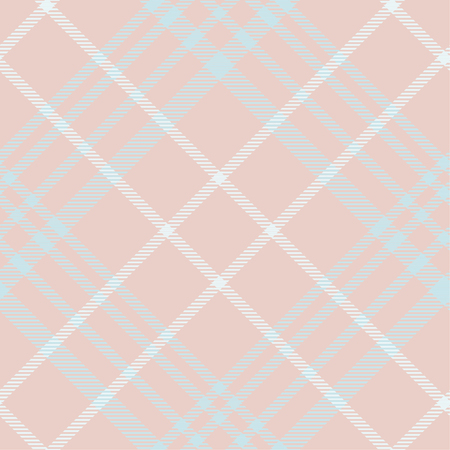 Seamless tartan plaid pattern in peach tone. 版權商用圖片 - 105658743