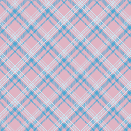 Seamless tartan plaid pattern in blue and pink tone.