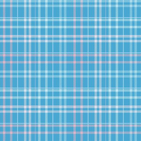 Seamless tartan plaid pattern in blue and pink tone. 版權商用圖片 - 105656441