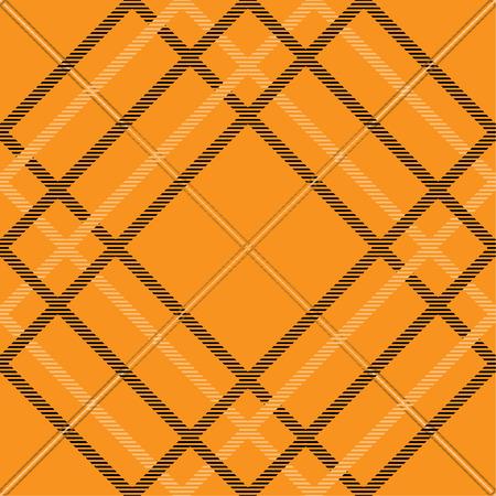 Tartan pattern,Scottish traditional fabric, orange tone background. 向量圖像