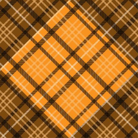 Tartan pattern,Scottish traditional fabric, orange tone background. 版權商用圖片 - 107528346