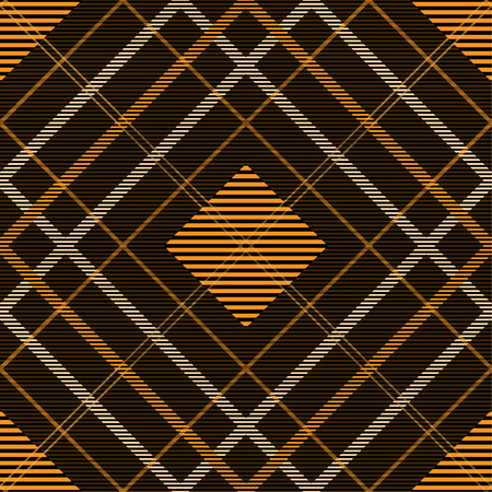 Tartan pattern,Scottish traditional fabric, orange tone background. 版權商用圖片 - 107528418