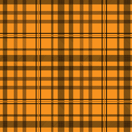 Tartan pattern,Scottish traditional fabric, orange tone background.  イラスト・ベクター素材