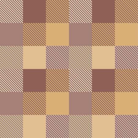 Tartan pattern,Scottish traditional fabric seamless. Brown background.