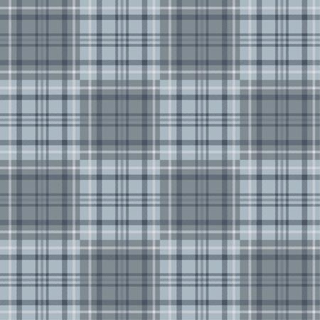 Seamless tartan plaid pattern in gray tone.