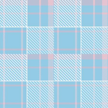 Seamless tartan plaid pattern in blue and pink tone. 版權商用圖片 - 107528582