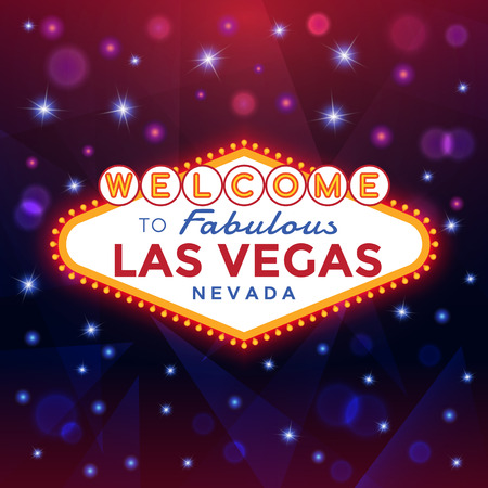 vegas strip: Las Vegas Sign against the night sparkling background.