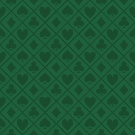 Seamless Pattern Of Green Texture Fabric Poker Table Illustration