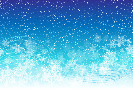 yule tide: Holiday Snowy Background With Snowflakes And Blizzard. Illustration