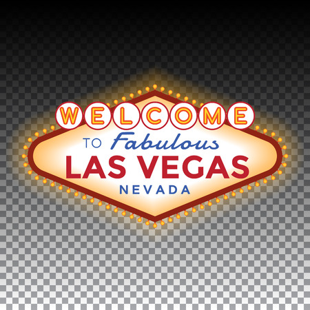 Vector Las Vegas Sign on transparent background.