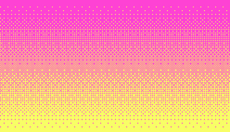 픽셀 아트 디더링 배경 분홍색과 노란색 색상.