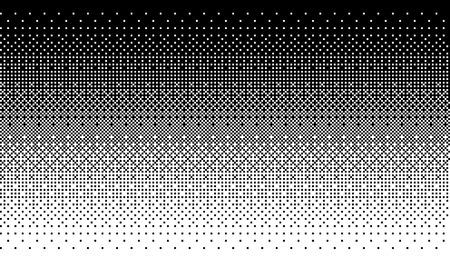 Art de pixel dithering fond en couleur blanche et noire.