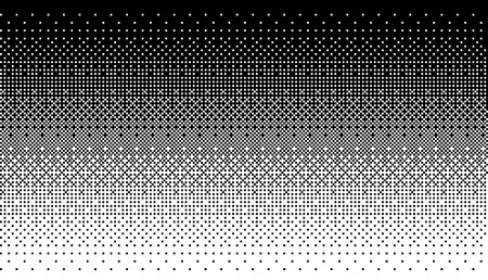 Pixel art dithering background in white and black color. Illustration