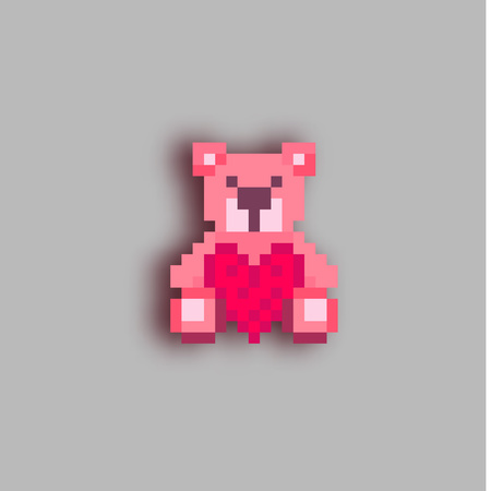 Pixel art Teddy bear