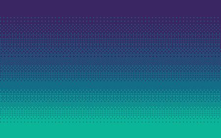 Pixel Art Dithering Hintergrund in blauen Farben.