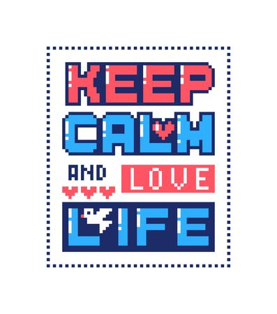 Pixel art poster with quote