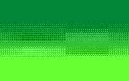 Pixel art dithering seamless background. Neon green halftone. Vector illustration. Çizim