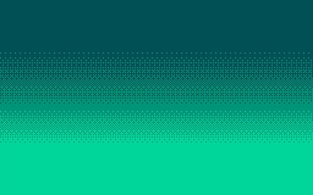 Pixel art dithering seamless background. Aquamarine halftone. Vector illustration.