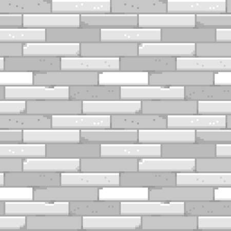 Pixel art brick wall seamless pattern. Vector illustration.