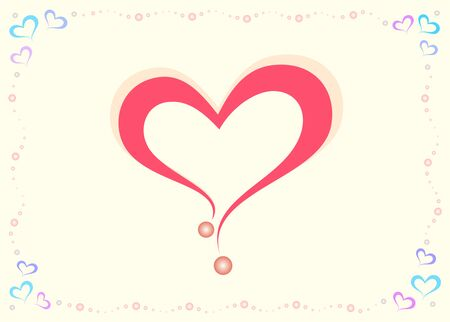 Sweet Pink Valentine Heart Illustration