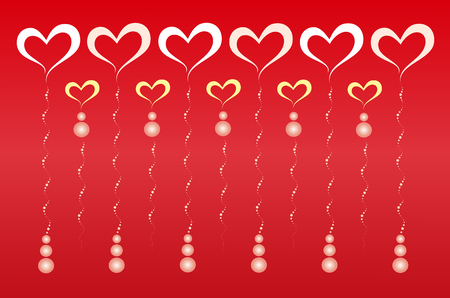 red wallpaper: Red Valentine Heart Wallpaper Illustration