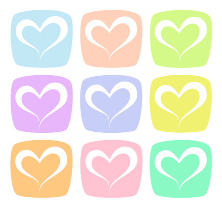 Sweet Color Heart Pattern Background Illustration Illusztráció