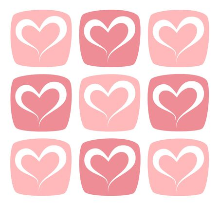 Pink Heart Pattern Background Illustration