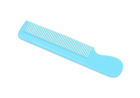 Blue Comb Isolated on White Background Illustration Illusztráció