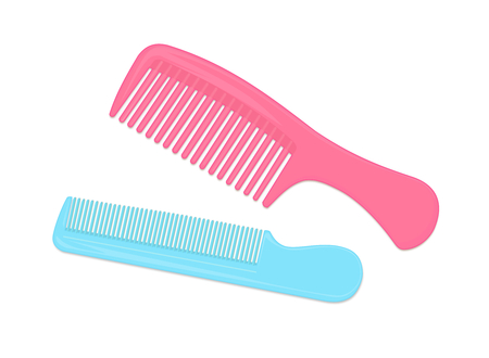 combs: Colorful Combs Isolated on White Background Illustration Illustration