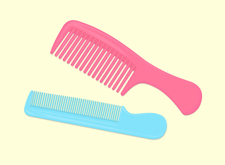 Colorful Combs Isolated Illustration
