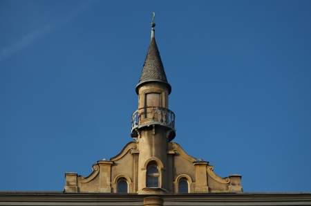 crenellated tower: tower
