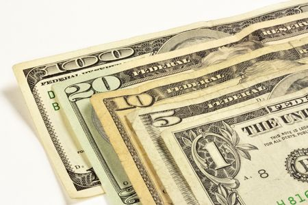 A one, five, ten, twenty, and hundred dollar bill Stock Photo - 5463346