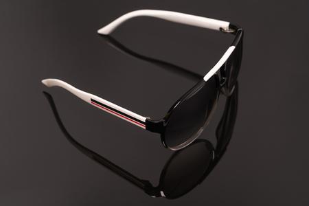 fashion eye glasses isolated on black backgrounds