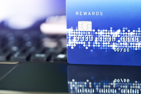 credit card the convenience shopping life concept. E-commerce shopping concept