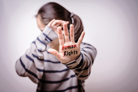 International Human Rights Day Concept, Stop violence against women, freedom concept, alone, sadness, emotional. Stock Photo