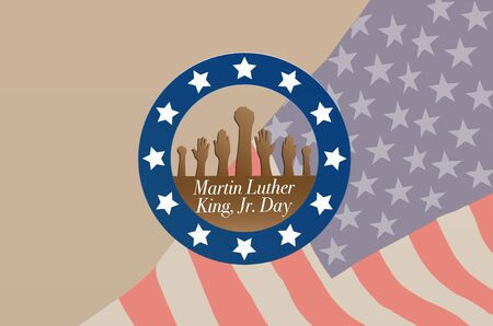 Martin Luther King Day Anniversary - American flag abstract background illustrator vector Illustration