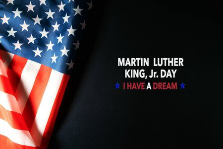 Martin Luther King Day Anniversary - American flag abstract background