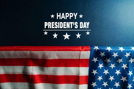 Presidents day celebrate on america flag background