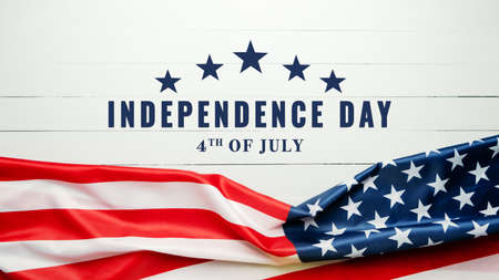 USA Independence day 4th of July concept, United States of America flag Reklamní fotografie