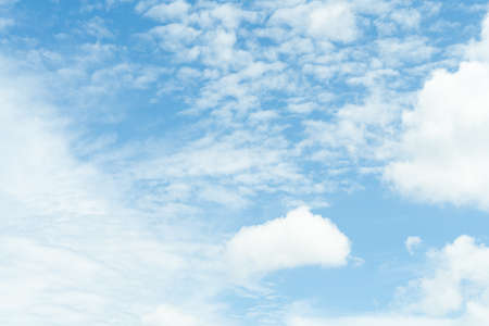 white soft cloud texture on blue sky backdrop Reklamní fotografie