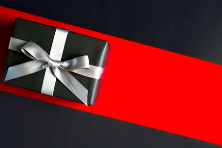 Boxing day sale, black gift box for online shopping