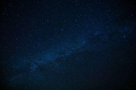 Milky way upon starry dark blue sky. Banco de Imagens