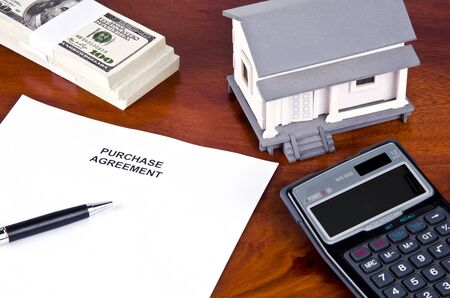 purchase agreement for a home photo