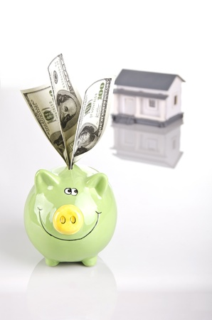 saving money for a home Stock Photo